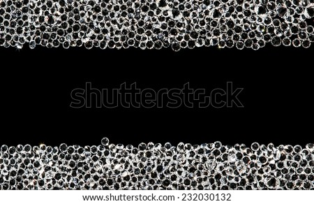 Double diamond line on black. texture for background text to luxury. - stock photo