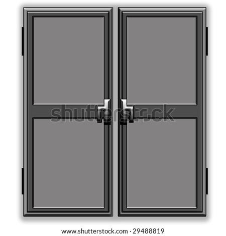 Double door - stock photo