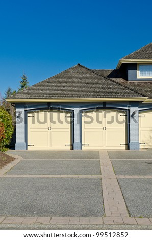 Double doors garage
