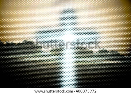 Double exposure the cross with landscapes,Faith belief and hope concept - stock photo