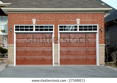 double garage stock images royalty free images vectors shutterstock. Black Bedroom Furniture Sets. Home Design Ideas