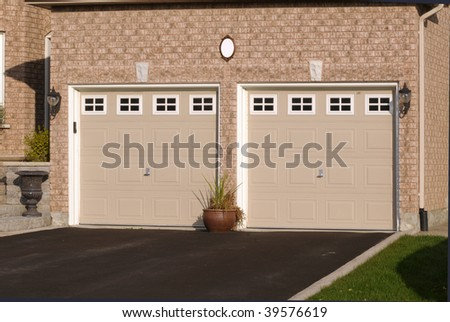 Double Garage in a brick house