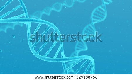 Double helix of DNA visible under microscope  medical background. - stock photo