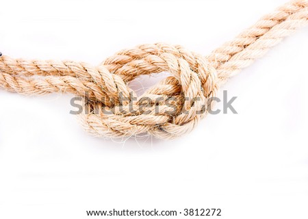 Double rope as conjunction - stock photo