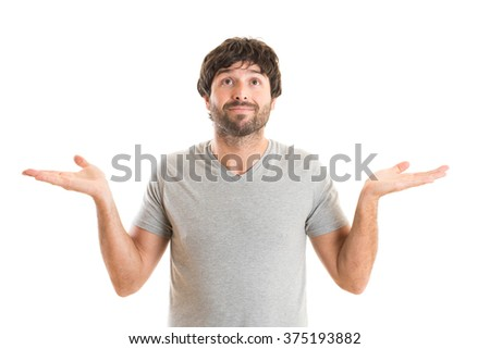Doubtful young man