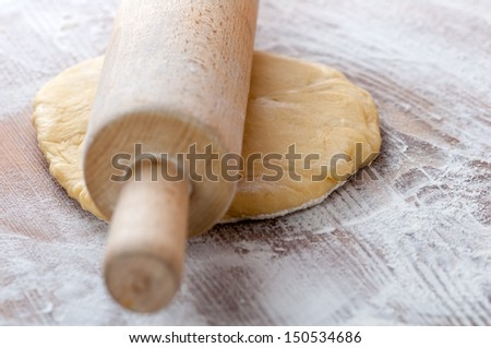 dough in hands close up - stock photo
