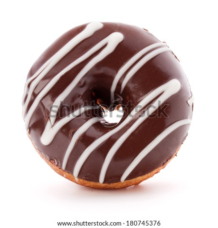 doughnut or donut isolated on white background cutout - stock photo