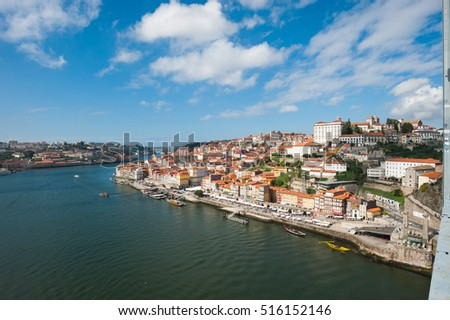 Douro river and Porto, Portugal / Porto was recognized as World heritage in 1996 and beautiful historic city of Portugal.