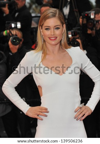 "Doutzen Kroes at the gala premiere of ""Jimmy P. Psychotherapy of a Plains Indian"" in competition at the 66th Festival de Cannes. May 18, 2013  Cannes, France"