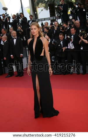 Doutzen Kroes attends the 'Cafe Society' premiere and the Opening Night Gala during the 69th Cannes Film Festival at the Palais des Festivals on May 11, 2016 in Cannes, France. - stock photo