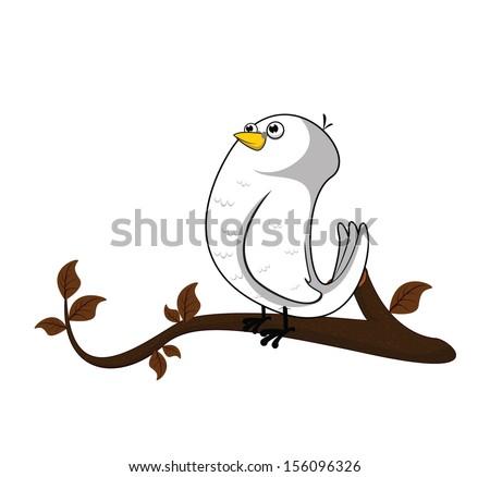 dove tree autumn  - stock photo