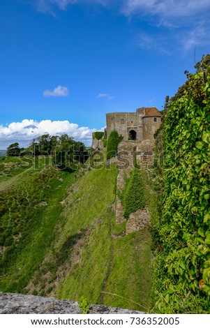Dover castle dover uk august 18 stock photo 736352005 shutterstock dover castle dover uk august 18 2017 side view along the sciox Image collections