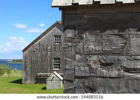 Dovetail joints used in an historic log cabin