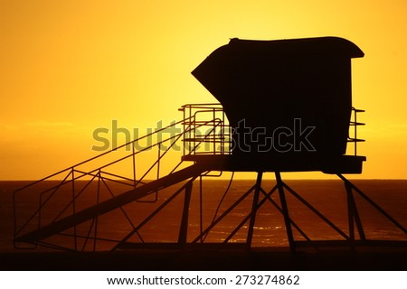 Down by the beach - stock photo