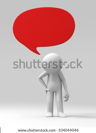 down-hearted/A 3d people feel discouraged - stock photo