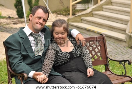 Down syndrome stock photos: love