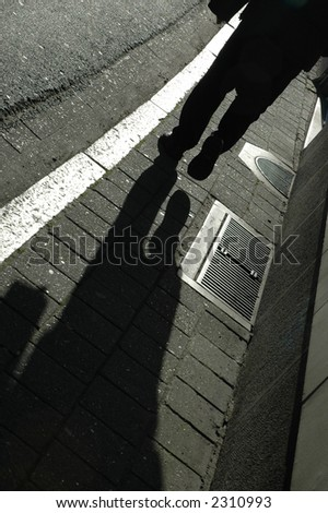 Down the street - stock photo