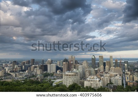 Down Town, City View, Montreal, Quebec, Canada - stock photo