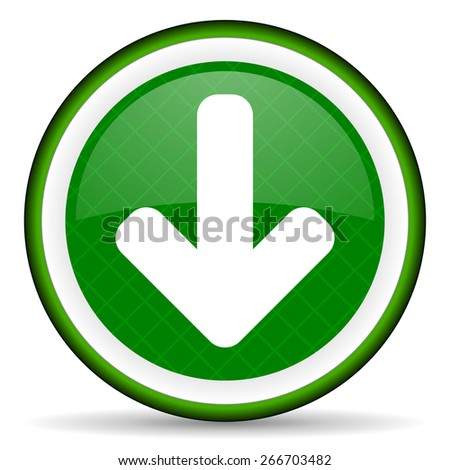 download arrow green icon arrow sign  - stock photo