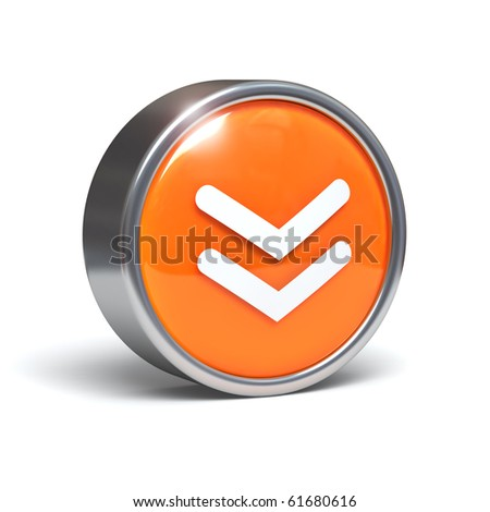 Download - 3D button with clipping path