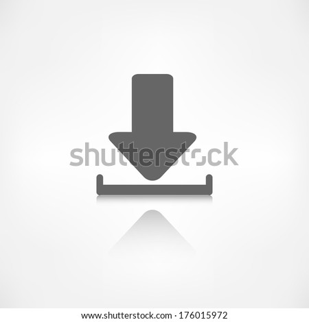 Download icon. - stock photo