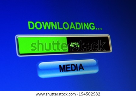 Download media - stock photo