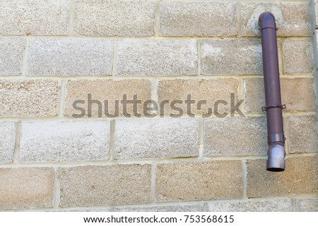 Downpipe Derived Through Wall Outside Horizontal Stock Photo ...