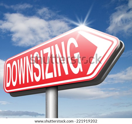 downsizing firing workers jobs cuts job loss reorganization crisis recession  - stock photo