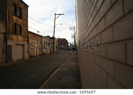 Downtown alleyway - stock photo