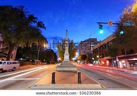 downtown athens, georgia, usa cityscape - stock photo
