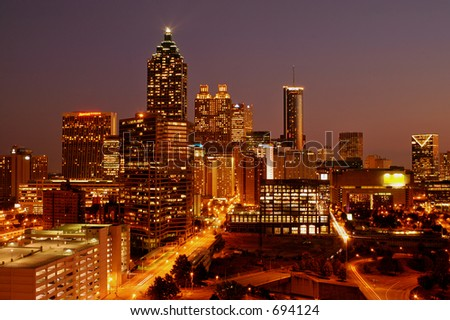 Downtown Atlanta - stock photo