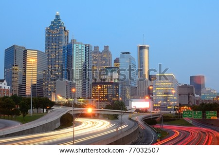 Downtown Atlanta, Georgia skyline - stock photo