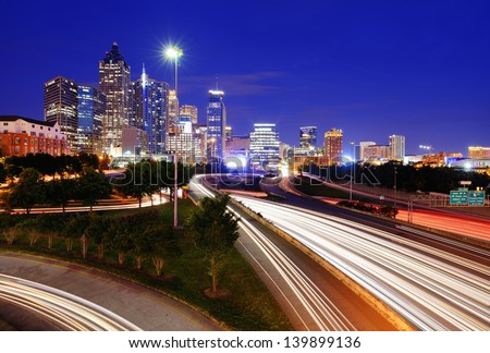Downtown Atlanta, Georgia, USA skyline.