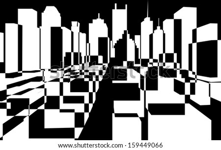 downtown background,  - stock photo