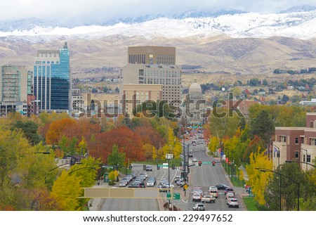 Downtown Boise, Idaho - stock photo