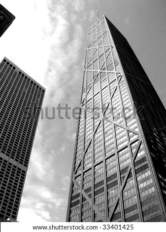 Chicago Architecture Black And White chicago skyline black and white stock images, royalty-free images
