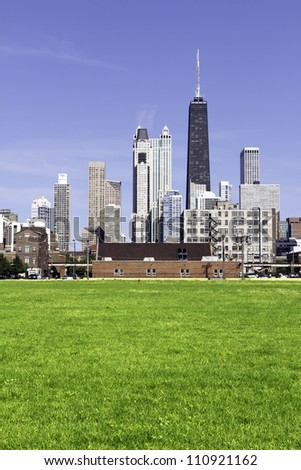 Downtown Chicago in the afternoon - stock photo