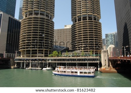 Downtown Chicago Waterfront , Illinois - stock photo