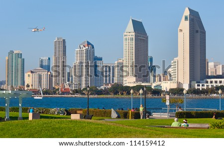 Downtown City of San Diego, California Cityscape - stock photo
