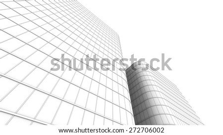downtown corporate business - stock photo