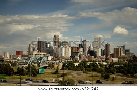 Downtown Denver, Colorado, site of 2007 World Series and Democratic national convention - stock photo