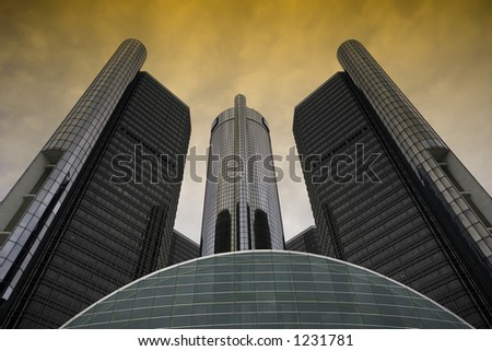 Downtown Detroit GM Hedquarter, Michigan - stock photo