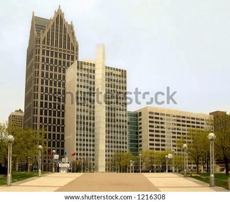 Downtown Detroit, Michigan USA - stock photo