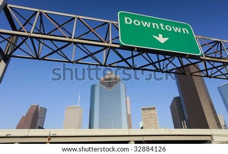 Downtown Houston - stock photo