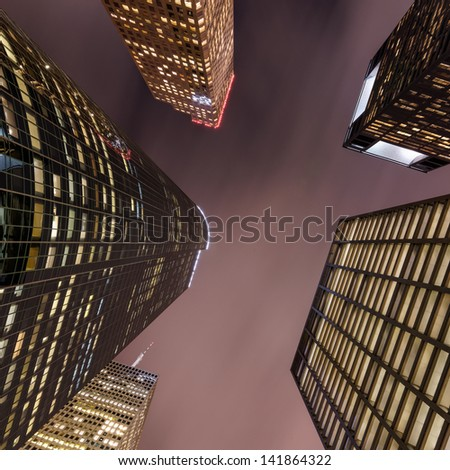 Downtown Houston looking up