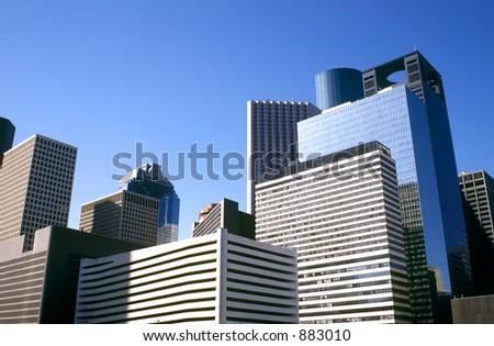 Downtown Houston, Texas. - stock photo