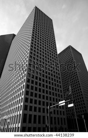 Downtown Houston Texas buildings urban city skyscrapers - stock photo