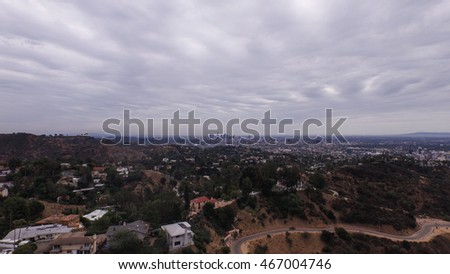 Downtown Los Angeles From The Hollywood Sign