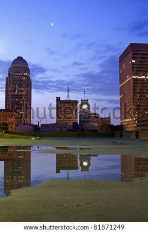 Downtown Louisville, Kentucky - stock photo
