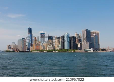 Downtown Manhattan Skyline - stock photo
